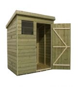 Pent Shed With Windows